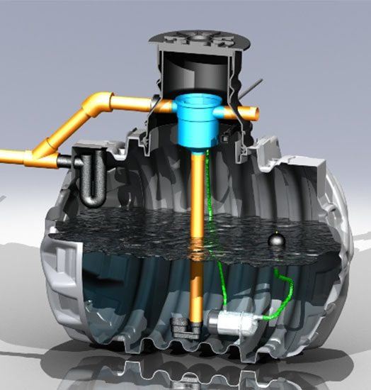 lietaus vandens naudojimo sistema