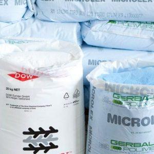Naftos ir riebalų gaudyklių, nuotekų valymo įrenginių ir lietaus vandens naudojimo sistemos gaminamos iš perdirbto poilietileno miltelių.